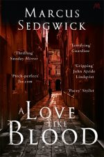 UK cover of A Love Like Blood showing dark Roman street.