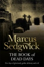 UK cover of The Book of Dead Days showing snowy graveyard.