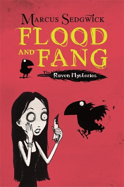 Cover of Flood and Fang showing Solstice and Edgar the Raven.