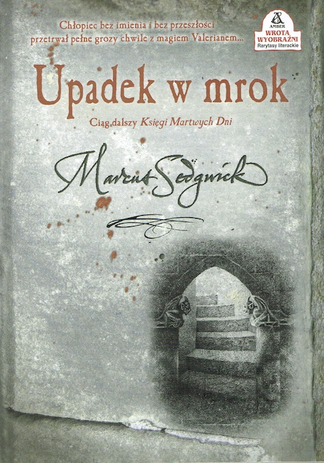 Polish cover of The Dark Flight Down showing stone steps.