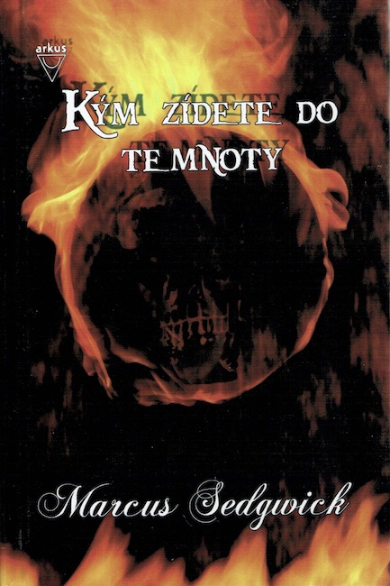 Slovakian cover of The Dark Flight Down showing burning orb.