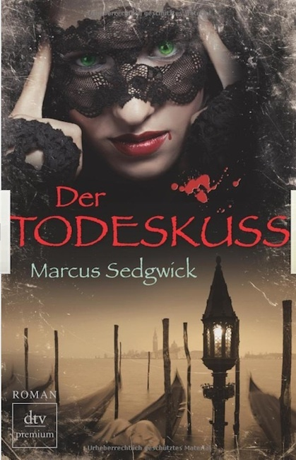 German cover of The Kiss of Death with woman in Venetian mask.