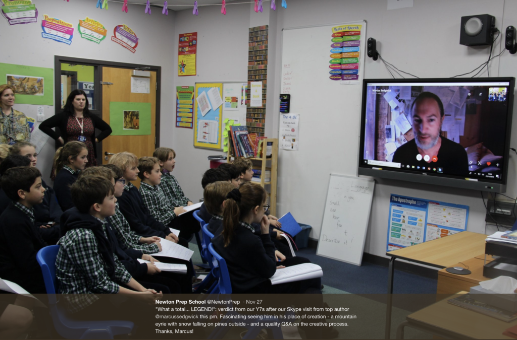 Skype with the pupils of Bishop David Brown School, UK