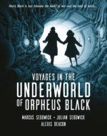 Cover for Orpheus Black showing two figures in an underground tunnel