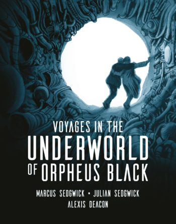 Cover of Orpheus Black showing two figures in an underground tunnel