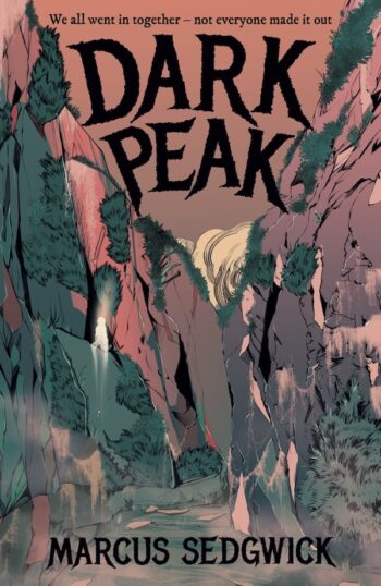Cover of Dark Peak showing an illustration of Lud's Church, a natural chasm